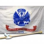 United States Army 3' x 5' Nylon Flag, Pole and Mount