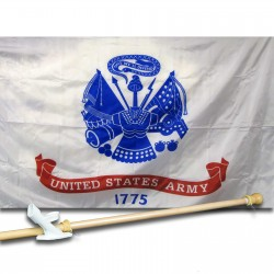 United States Army 3' x 5' Nylon Flag, Pole and Mount