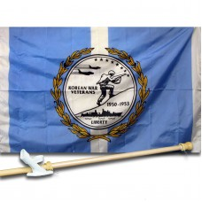 Korean War Veterans 3' x 5' Nylon Flag, Pole and Mount