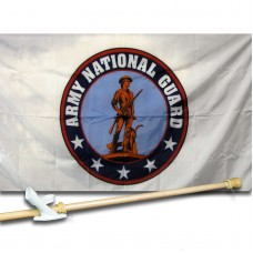 Army National Guard 3' x 5' Nylon Flag, Pole and Mount