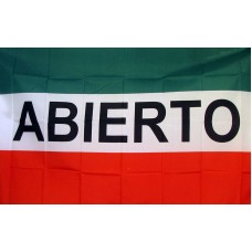 Abierto (Open) 3'x 5' Business Flag