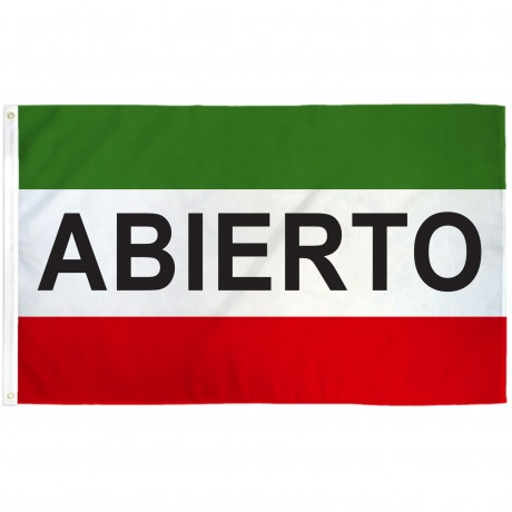 Abierto 3' x 5' Polyester Flag