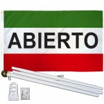 Abierto 3' x 5' Polyester Flag, Pole and Mount