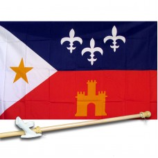 Acadiana 3' x 5' Country Flag, Pole And Mount
