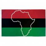 African Map 3'x 5' Novelty Flag
