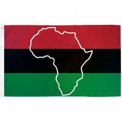 African Map 3'x 5' Novelty Flag