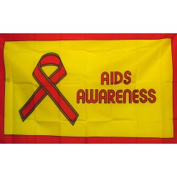 Aids Awareness 3'x 5' Novelty Flag