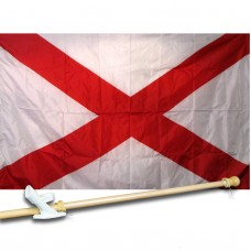 ALABAMA 3' x 5'  Flag, Pole And Mount.