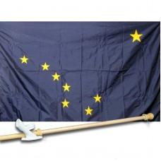 ALASKA 3' x 5'  Flag, Pole And Mount.