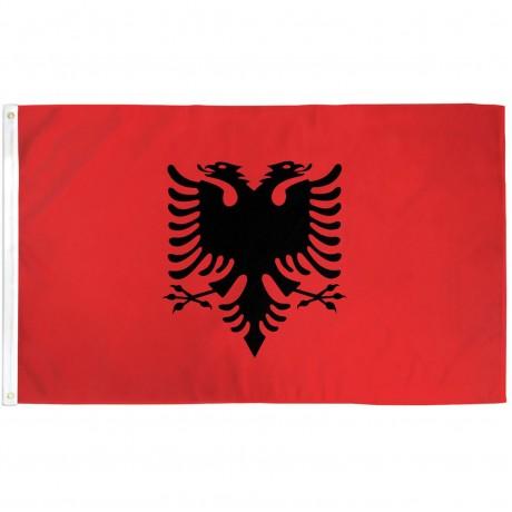 Albania 3' x 5' Polyester Flag