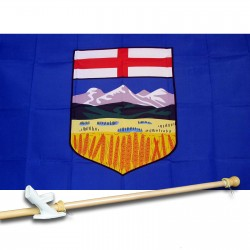 ALBERTA 3' x 5'  Flag, Pole And Mount.