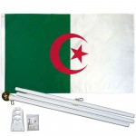 Algeria 3' x 5' Polyester Flag, Pole and Mount
