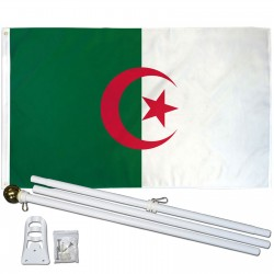 Algeria 3' x 5' Polyester Flag, Pole and Mount