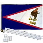 American Samoa 3' x 5' Polyester Flag, Pole and Mount