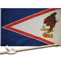 AMERICAN SAMOA 3' x 5'  Flag, Pole And Mount.