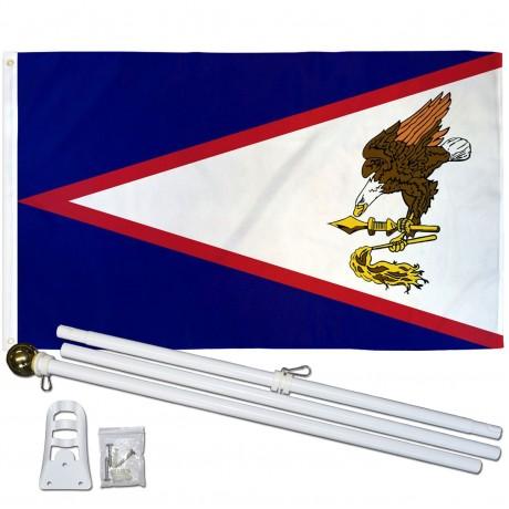 American Samoa 3' x 5' Polyester Flag, Pole and Mount