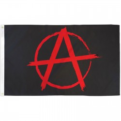 Anarchy 3' x 5' Polyester Flag