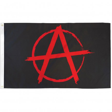 Anarchy 3' x 5' Polyester Flag