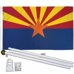 Arizona State 3' x 5' Polyester Flag, Pole and Mount
