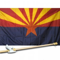 ARIZONA 3' x 5'  Flag, Pole And Mount.