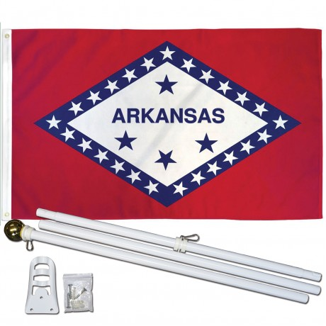 Arkansas State 3' x 5' Polyester Flag, Pole and Mount