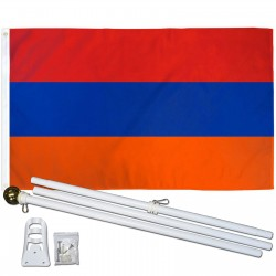 Armenia 3' x 5' Polyester Flag, Pole and Mount