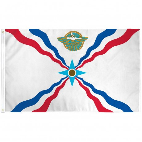 Assyrian 3' x 5' Polyester Flag