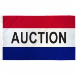 Auction Patriotic 3' x 5' Polyester Flag