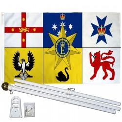 Australia Royal Standard 3' x 5' Polyester Flag, Pole and Mount