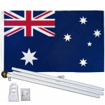 Australia 3' x 5' Polyester Flag, Pole and Mount