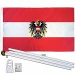 Austria Eagle 3' x 5' Polyester Flag, Pole and Mount