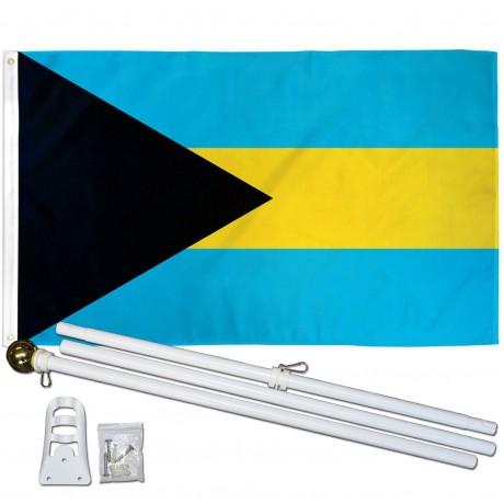 Bahamas 3' x 5' Polyester Flag, Pole and Mount