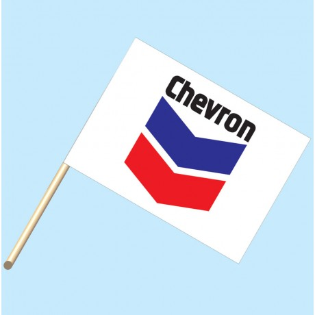 Cheveron Flag/Staff Combo