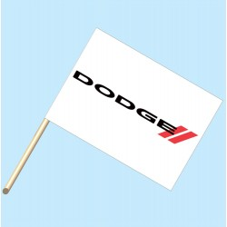 Dodge White Flag/Staff Combo