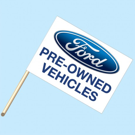 Ford Pre-Owned Flag/Staff Combo