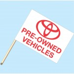 Toyota Pre-Owned Vehicles Flag/Staff Combo