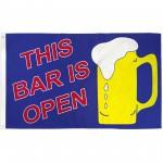 Bar Open Beer Mug 3'x 5' Advertising Flag
