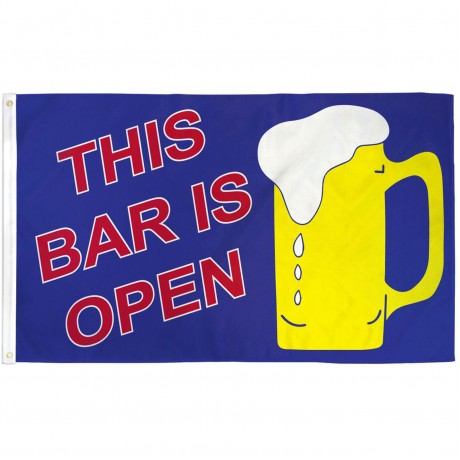 Bar Open Beer Mug 3'x 5' Advertising Flag