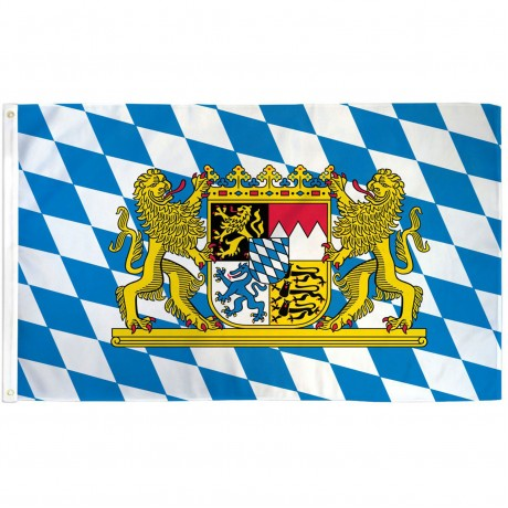 Bavaria with Lion 3' x 5' Polyester Flag