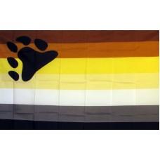 Rainbow Male Bear Pride 3' x 5' Polyester Flag