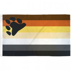 Rainbow Male Bear Pride 3' x 5' Polyester Flag