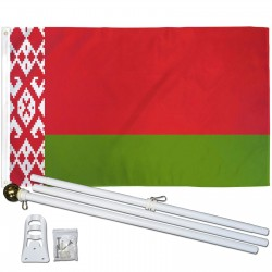 Belarus 3' x 5' Polyester Flag, Pole and Mount