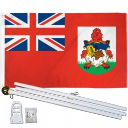 Bermuda 3' x 5' Polyester Flag, Pole and Mount