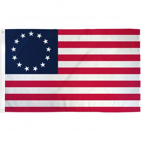 USA Historical Betsy Ross 3' x 5' Polyester Flag