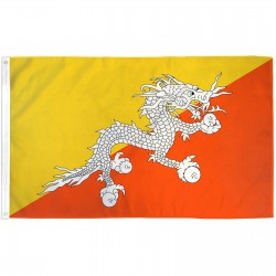 Bhutan 3' x 5' Polyester Flag
