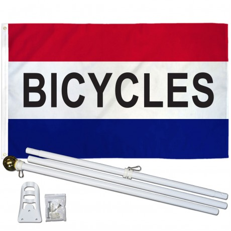 Bicycles Patriotic 3' x 5' Polyester Flag, Pole and Mount