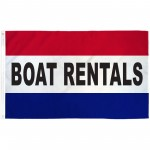 Boat Rentals Patriotic 3' x 5' Polyester Flag