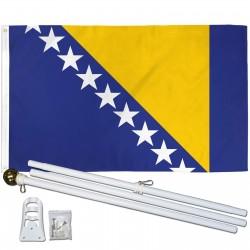 Bosnia Herzegovina 3' x 5' Polyester Flag, Pole and Mount