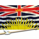 British Columbia 3' x 5' Flag, Pole, and Mount