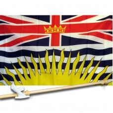 British Columbia 3' x 5' Flag, Pole, and Mount